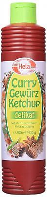 German Hela Delicate (Mild) Spicy Curry Ketchup - 1 x 800 ml