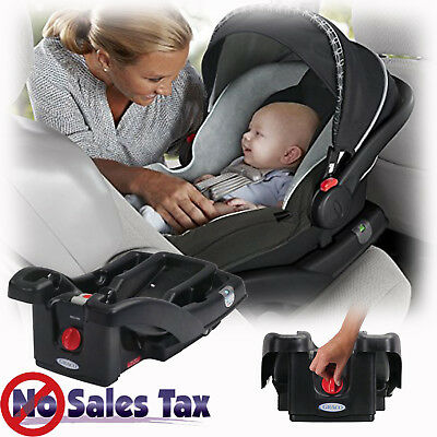Baby Car Safe Secure Seat Base Graco SnugRide Click Connect 30/35 Infant Black