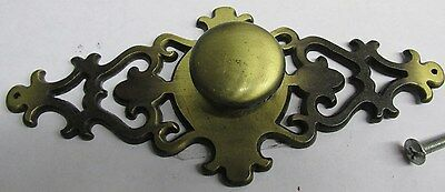 """Vintage 6-1/2"""" Chippendale Antique Brass Hardware Drop Handle Drawer Pull"""