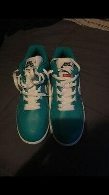Details about SUPREME X NIKE SB Air Force 2 Teal NIB Leather Upper Size 10