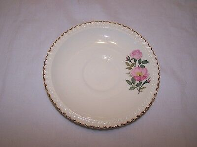 Harker Pottery Co. Wild Rose Saucer