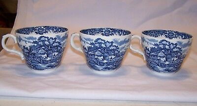 Alfred Meakin English Village Blue Cup - Set of 3