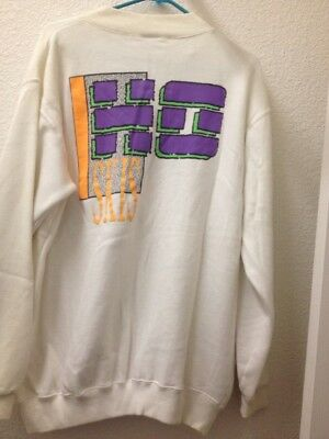 Vintage HO Skis White 80's 1980s 90s Sweatshirt Snowboard XL Made In Korea