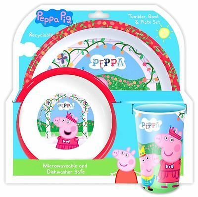 Peppa Pig George Kids Table Dinner Set - Tumbler Bowl & Plate Set OFFICIAL