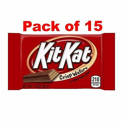 Kit Kat Crisp Wafers in Milk Chocolate, 1.5 oz - Pack of 15 (Halloween Candy)