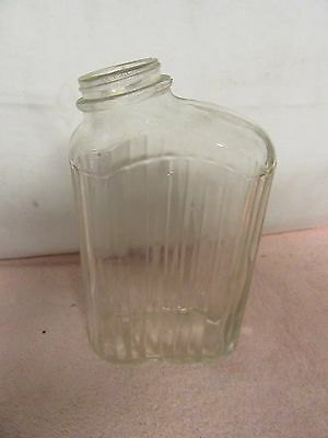 Vintage Clear Ribbed Refrigerator Water Bottle