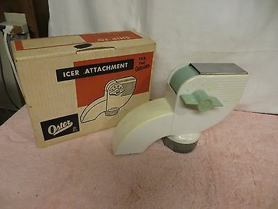 Vintage Oster #433B Kitchen Center Icer Attachment - Never Used - White w/Blue