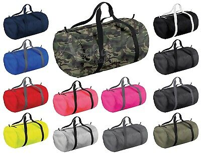 BagBase Barrel Bag Foldable Bag Gym School Sports Holdall Duffle Holidays Bag
