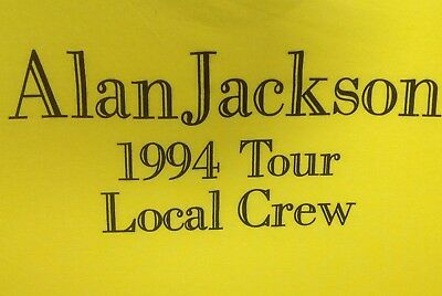 VTG ALAN JACKSON T Shirt New NBW Rare 1994 Concert Tour Local Crew XL