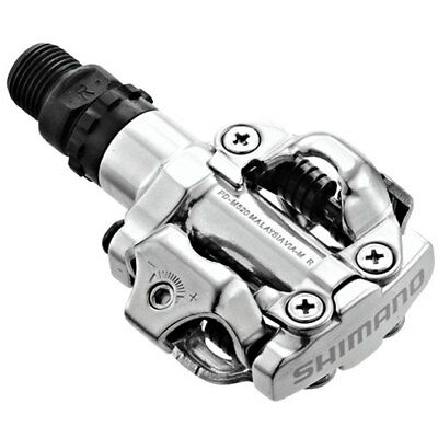 NEW Shimano M520 MTB XC Touring Clipless SPD Pedal Silver