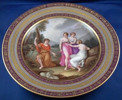 Antique Authentic 1806 Royal Vienna Porcelain Scenic Plate Porzellan Teller Wien