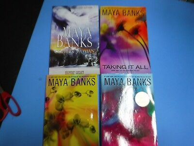 Lot Of 4 Maya Banks Erotic Novels