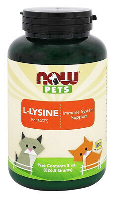 Now Pets, L-Lysine for Cats - Immune System Support - 8 oz (226.8 g)
