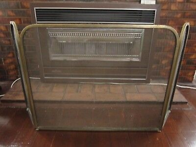 Vintage Brass Fire Place Spark Screen