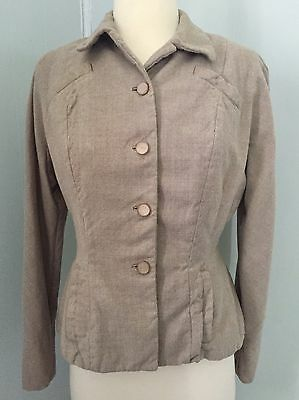 "1940s Brown Wool Jacket. Vintage Forties Swing Jacket. Small. 40"" Bust."