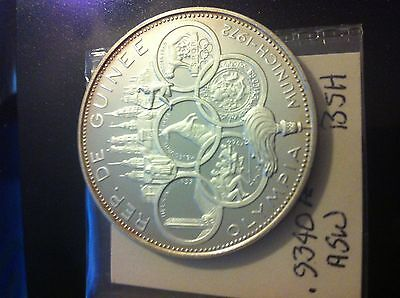 1969 new guinea 500 francs silver proof coin bu
