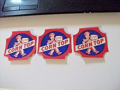 "SEE! 3 Collectible Vintage ""CORN TOP"" Bread Labels 1 Price!-NR #3"