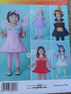 Simplicity #0417 PATTERN Costumes & Hat for Toddlers Butterfly, witch, flapper