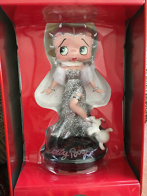 """Betty Boop 'BETTY BEDAZZLED' """"Sterling"""" Limited Edition bobble head figurine"""