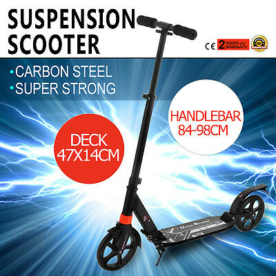 2017 Scooter Commuter Big Wheel Suspension Scooter Adult Child Kid Gift Folding