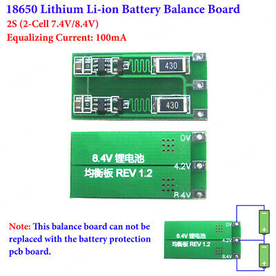 18650 Li-ion Lithium Battery Charger 2S 2 Cell 7.4V 8.4V Module Balance Board