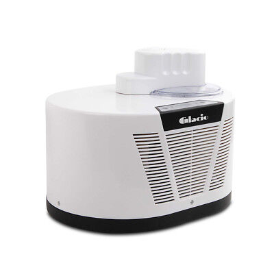 1L Ice Cream Maker W/ LCD Display Clear Lid & Stay Cool Function White