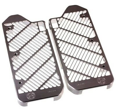Bullet Proof Silver Radiator Guards for Yamaha 2014-17 YZ 250F 250FX 450F 450FX