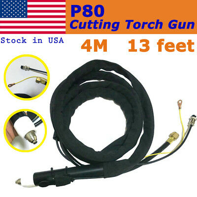 Pro P80 Pilot Arc Plasma Cutter Cuting Torch Completed Body 13feet in USA Stock