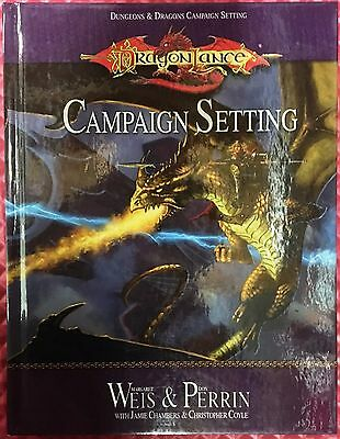 Dragon Lance Campaign Setting D20 Dungeons & Dragons by Weis and Perrin