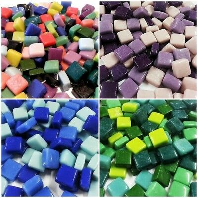 Glass Opaque Tiles 12x12mm = 400 grams - Choose your Colour Mix