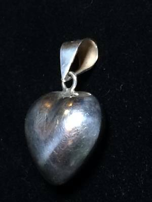 Vintage Taxco Sterling Silver heart pendant