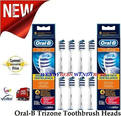 8 Genuine Braun Oral-B Trizone Toothbrush Replacement Brush Heads Eb30-4 3 2 6