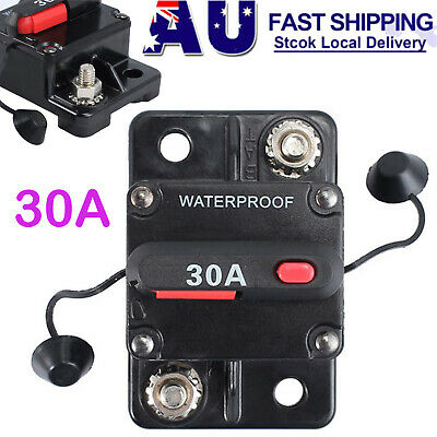 50Amp Circuit Breaker Dual Battery Ip67 W/proof 12V/24V Fuse Manual Reset