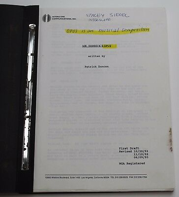 Mr. Holland's Opus * 1993 Movie Script * Early First Draft with Working Title