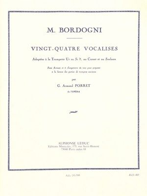 Giulio Marco Bordogni: 24 Vocalises (Trumpet Solo). Sheet Music
