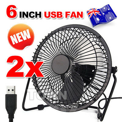 2X Mini USB Desk Fan Portable Super Mute Cooling Cooler PC Laptop Notebook Jumbo