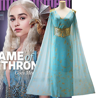 Halloween Game Of Thrones Ladies Fancy Dress For Daenerys Qarth Cosplay Costume