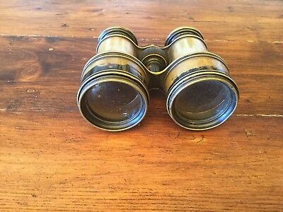 Vintage C1900 L Casella Maker to the Admiralty and Ordnance Brass Binoculars