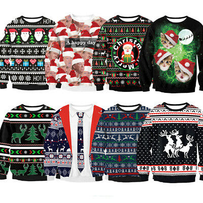 New Christmas Xmas Jumper Funny Rude Mens Ladies Novelty Crewneck Sweater Gifts