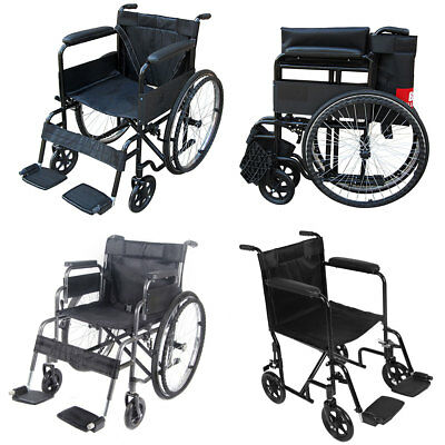 Folding Wheelchair Self Propelled Mobility Lightweight Transit Footrest Travel