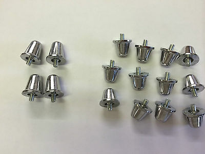 Rugby boot replacement studs (set Of 16)