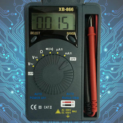 LCD Mini Auto Range AC/DC Pocket Digital Multimeter Voltmeter Tester Tool BY