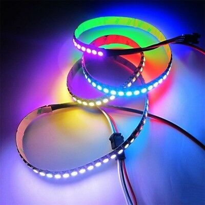 1M 60LED WS2812B 5050 RGB LED Strip Light Addressable White Shell Hot BY