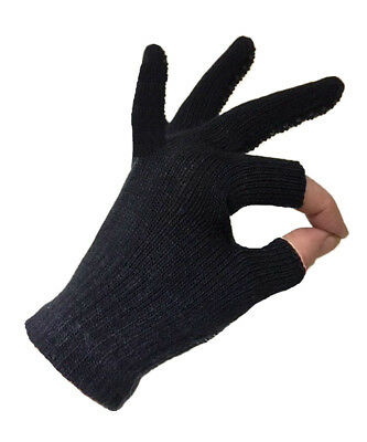Ladies Womens Free 2 Touch Fingerless Black Magic Touchscreen Gripper Gloves Tip