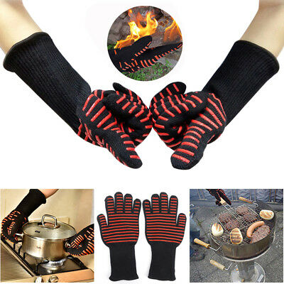 Oven BBQ kitchen 35cm 932°F / 500°C Heat Resistant Gloves Cooking Silicone Mitts