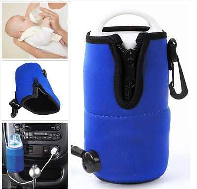 US Portable DC 12V In Car Baby Bottle Heater Food Milk Travel Cup Warmer Heater