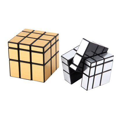 New 3 x 3 x 3 Magic Cube Puzzle Ruler Mirror Intelligence Game Kids Toy BY