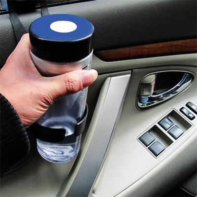 Black Universal Vehicle Car Truck Door Mount Drink Bottle Cup Holder Stand BY
