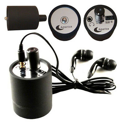 Modern Spy Eavesdropping Wall Microphone Voice Bug Ear Listen Through Device Bla