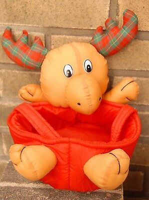 Christmas Reindeer  Plush Cloth Candy Basket